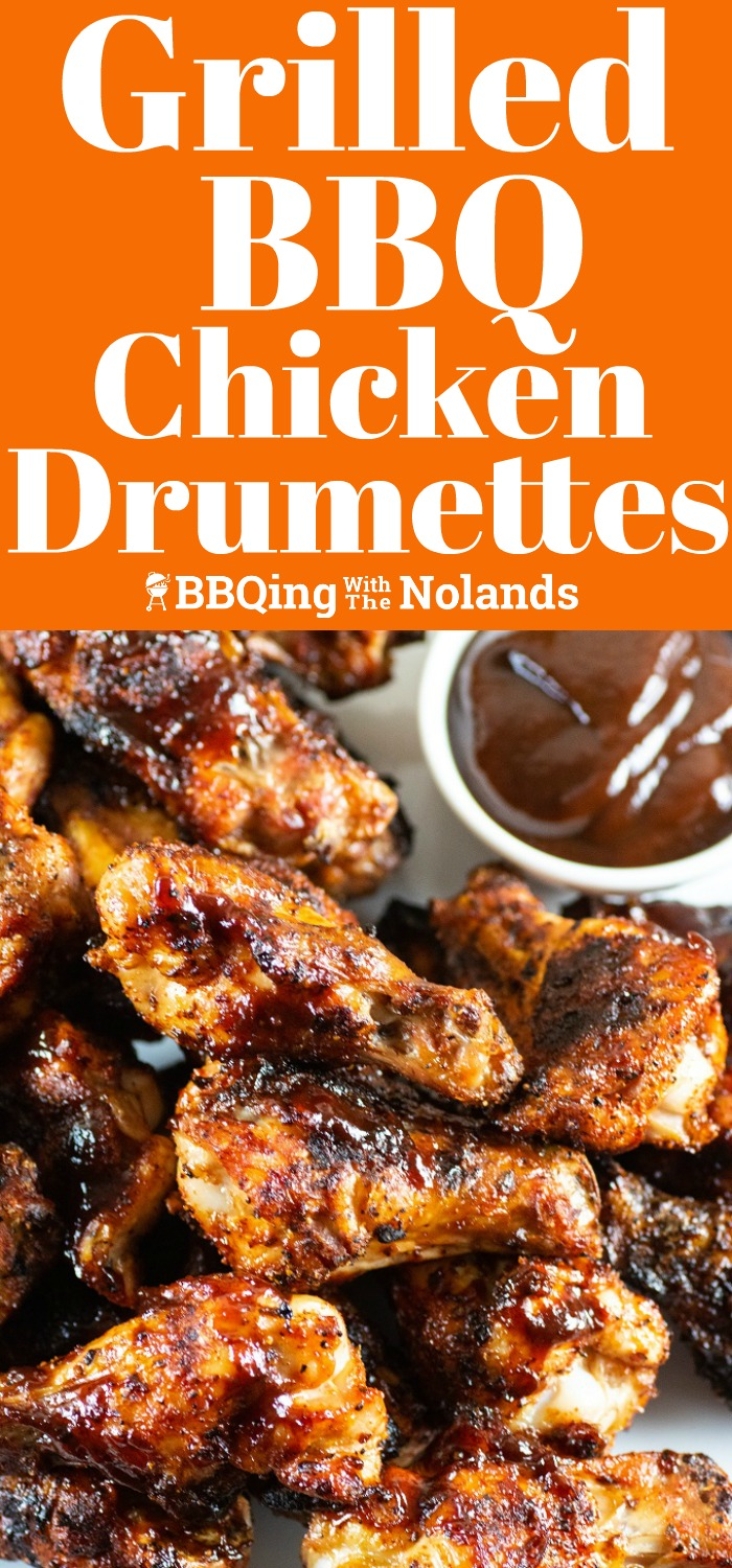 Grilled BBQ Chicken Drumettes have that perfect grilled BBQ flavor you are going to love! #drumettes #grilling #BBQ