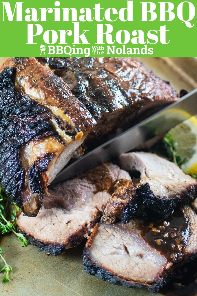This Marinated BBQ Pork Roast is tender Juicy and oh so flavorful #BBQporkroast #BBQ # Porkroast