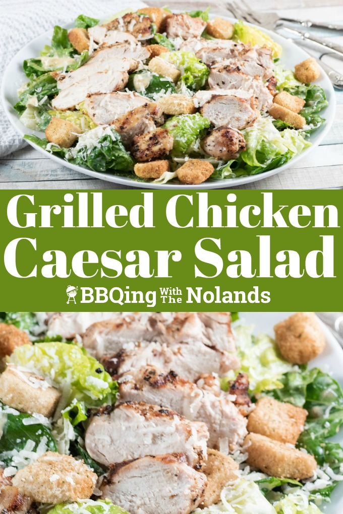Grilled Chicken Caesar Salad for a quick and easy week night dinner this is just the recipe. #Grilling #Chicken #Caesar Salad