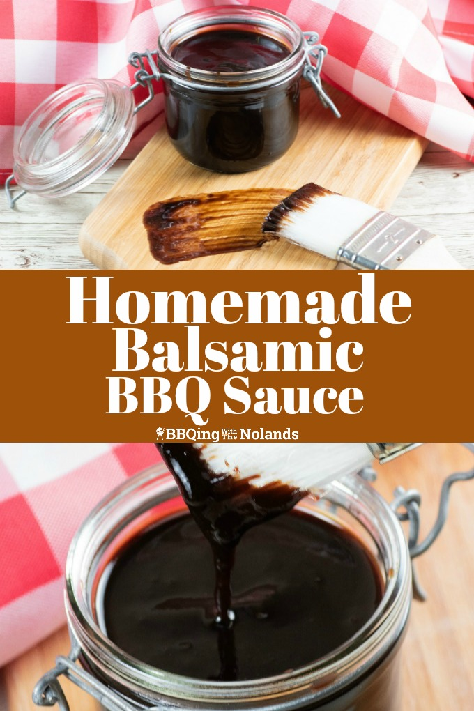 Tangy homemade balsamic BBQ sauce, it's easy and tastes fantastic #BBQsauce #HomemadeBBQsauce #BalsamicBBQsauce