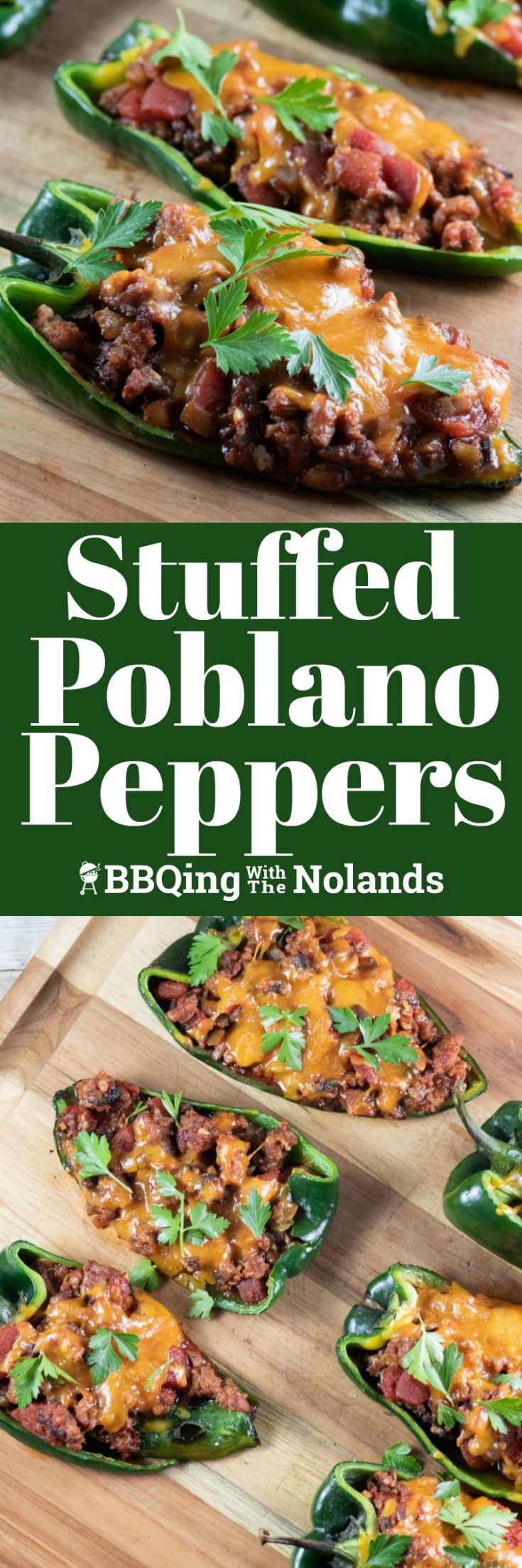Stuffed Poblano Peppers on the grill are super easy! Oh, and did I mention really, really tasty!