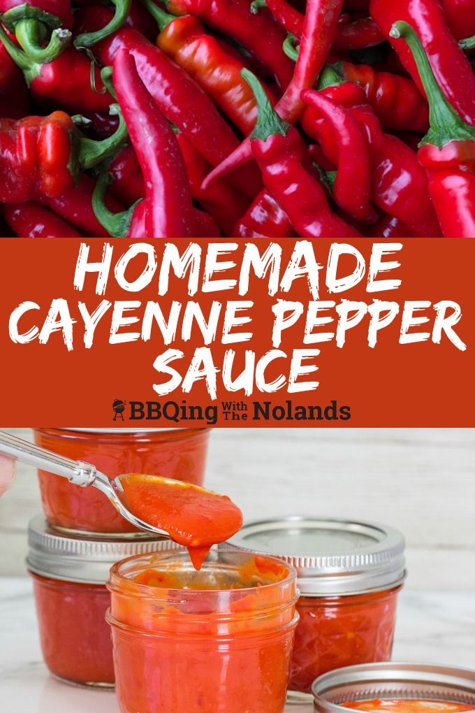 Grow your own peppers or pick some up and make some spicy Homemade Cayenne Pepper Sauce. #Pepper Sauce #Hot Sauce #spicy #homemade