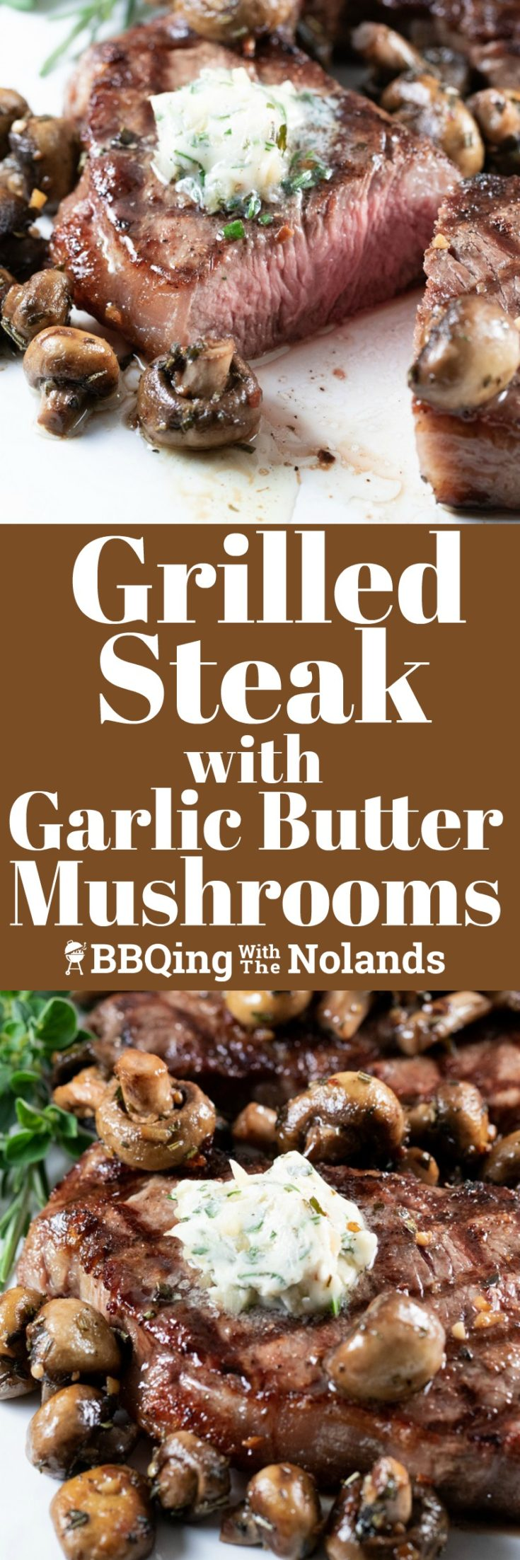 This Grilled Steak with Garlic Butter Mushrooms is a recipe that the whole family loved.