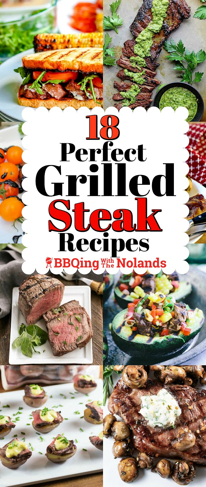 18 perfect grilled steak recipes, something for ever taste and budget! #Grilling #Steaks #grilledsteaks