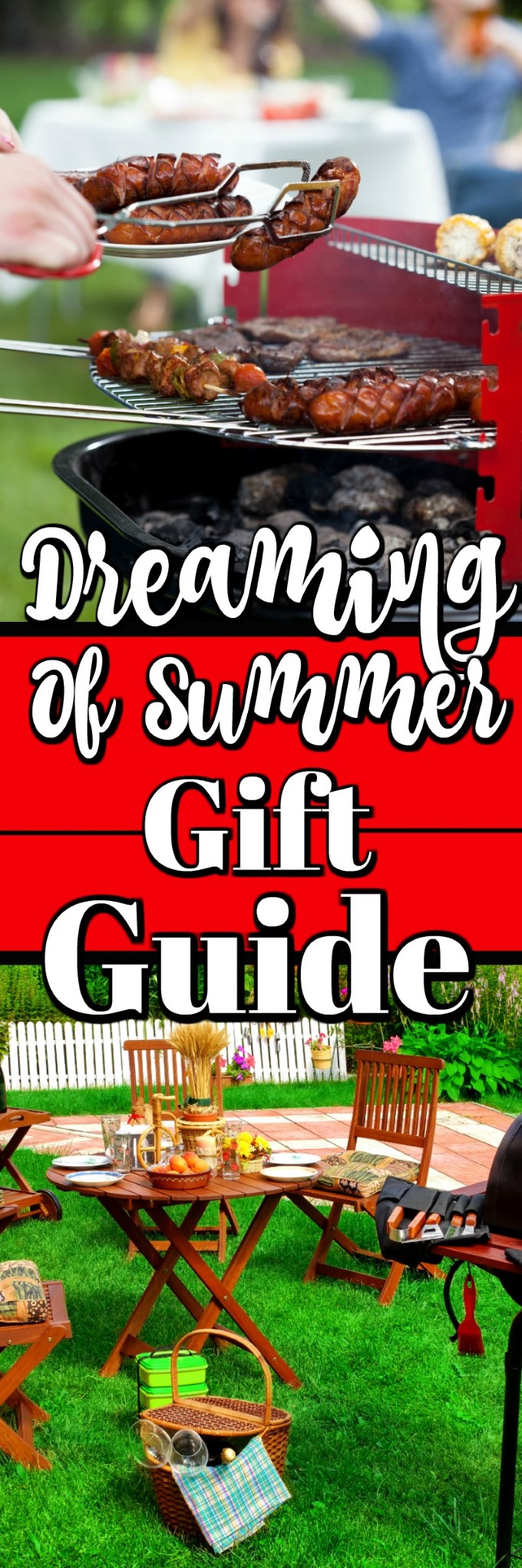 Dreaming of Summer Gift Guide is perfect for all your BBQing, Grilling and Smoking needs. #BBQ #grilling #summer #picnic