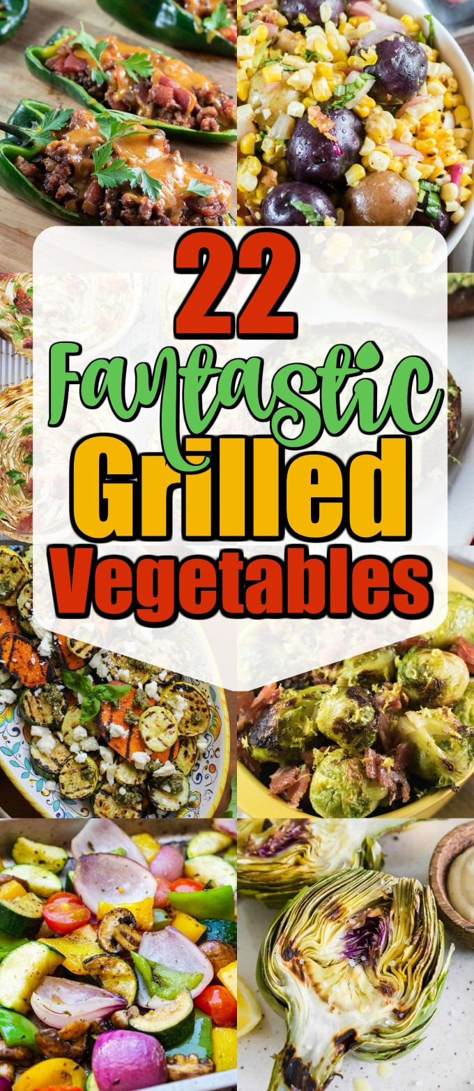 This collection of grilled vegetable recipes will have something for everyone #grilledveggies #grilledvegetables #vegetables
