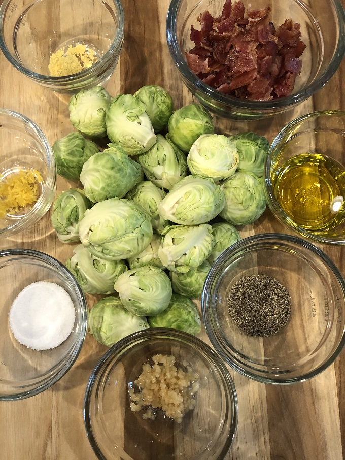 Ingredients for Grilled Brussels Sprouts