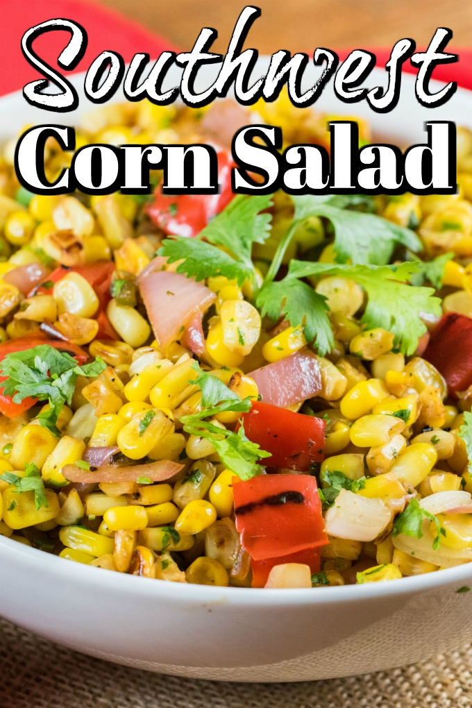 This Southwest Corn Salad recipe with grilled veggies is a great way to use your grill in a creative way #southwestcornsalad #cornsalad #grilledcornsalad #grilling