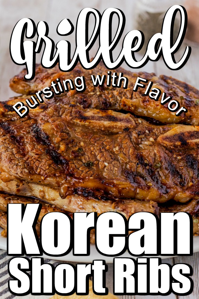 These Grilled Korean Short Ribs or Gal-Bi have become very popular over the past 20 years or so, and it's easy to see why! #Koreanribs #grilledribs #grilledkoreanribs