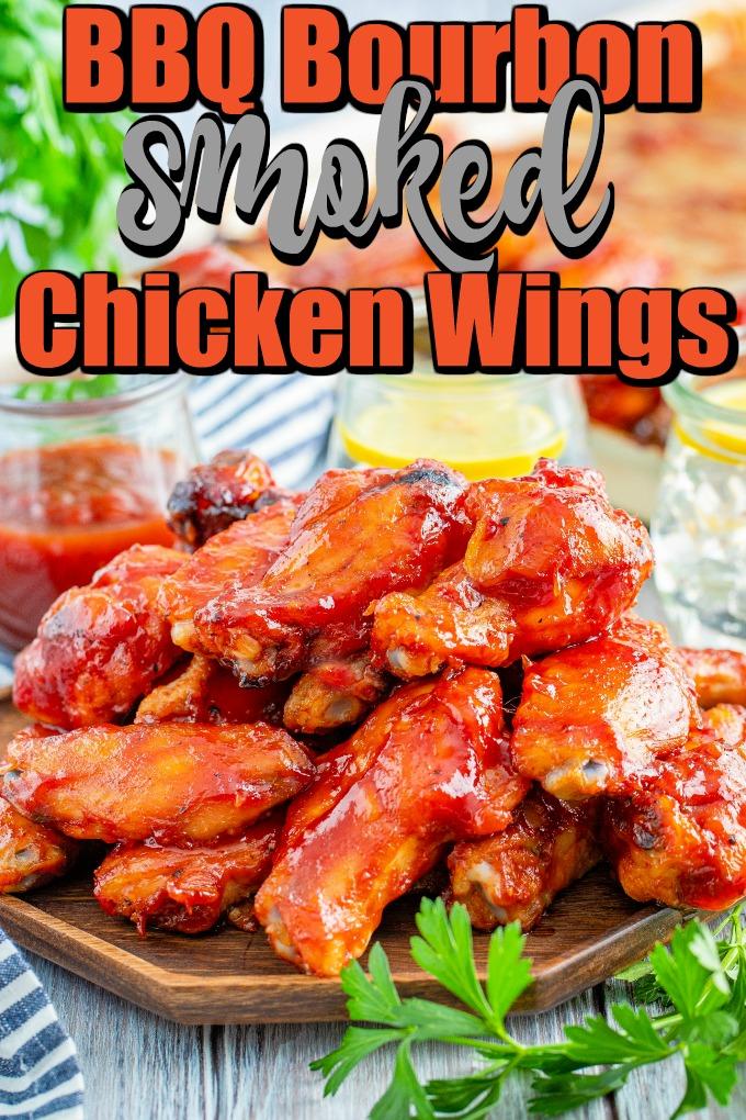BBQ Bourbon Smoked Chicken Wings Pin