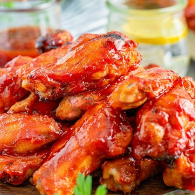Smoked Chicken Wings With Bourbon BBQ Sauce
