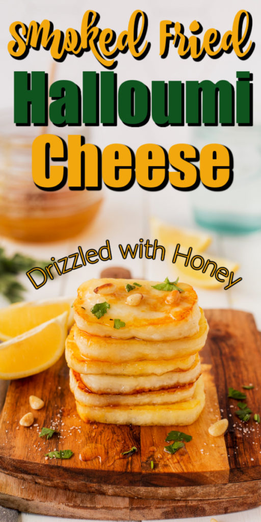 This Smoked Fried Halloumi Cheese is a perfectly original appetizer or snack to serve!