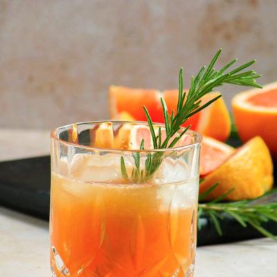 Grilled Grapefruit Greyhound Cocktail