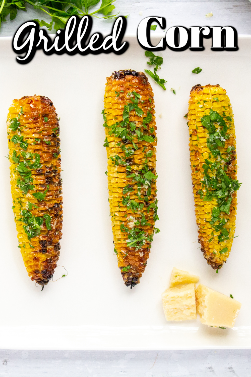 Grilled Corn On The Cob should be a regular menu item all summer long! Wonderful  sweet crunchy corn on the cob, with just a hint of smoky char from the grill?