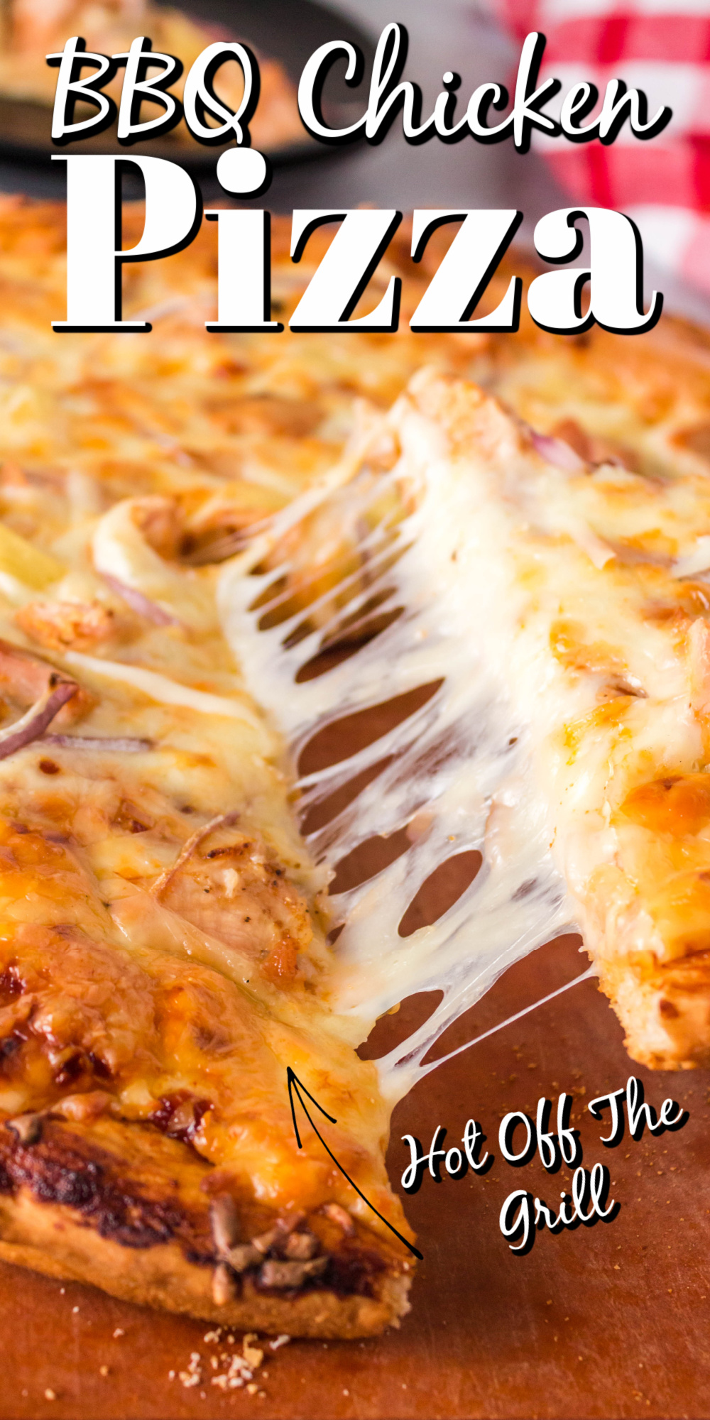 BBQ Chicken Pizza on the grill? Oh yes! This grilled pizza is amazing! With a crispy crust, wonderful barbecue sauce base, chicken, and pineapples, you will think you are in Hawaii!! This pizza is better than take-out.