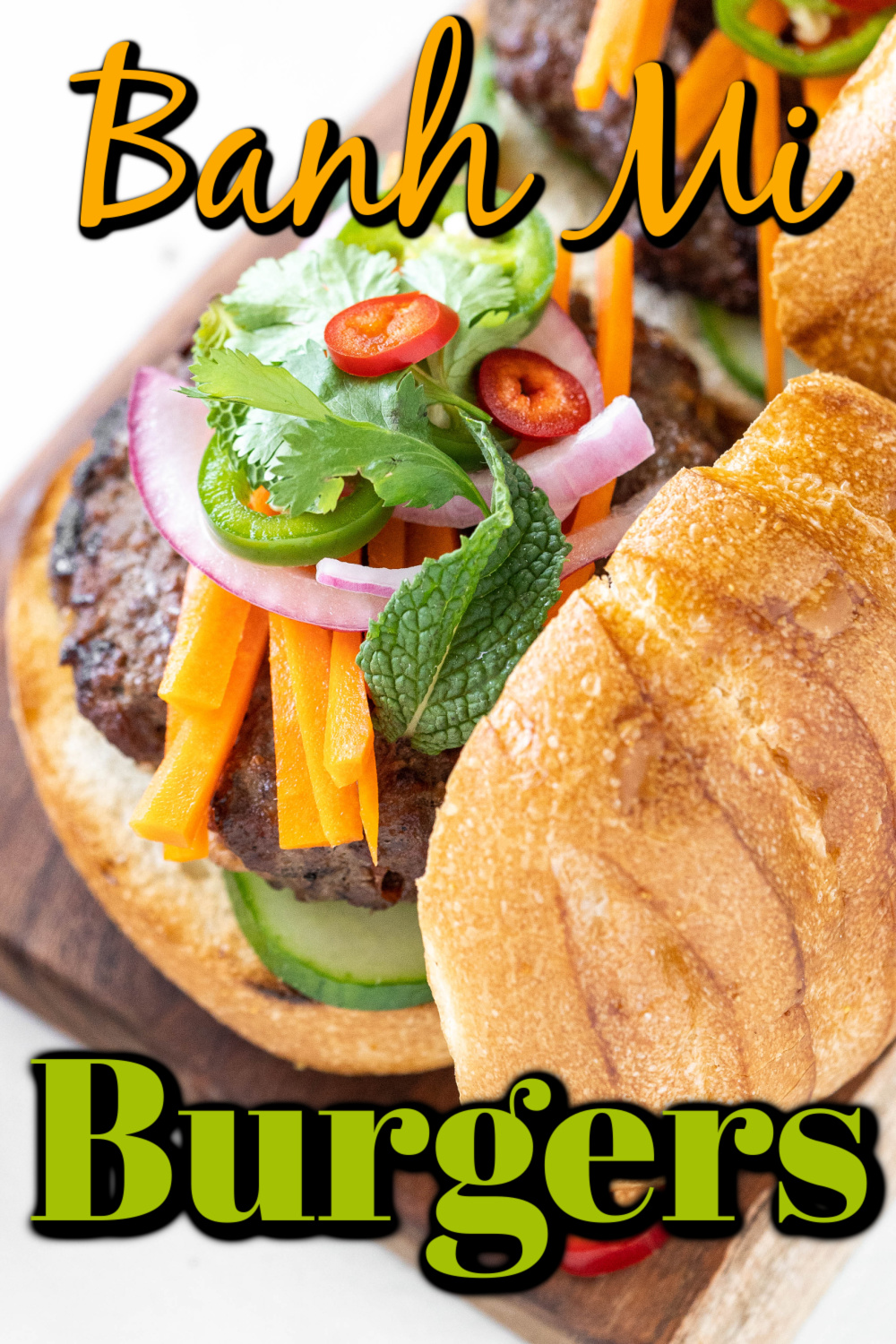 This Banh Mi Burger recipe is wonderfully flavorful with a hint of Asian flavors. I know you will love them!