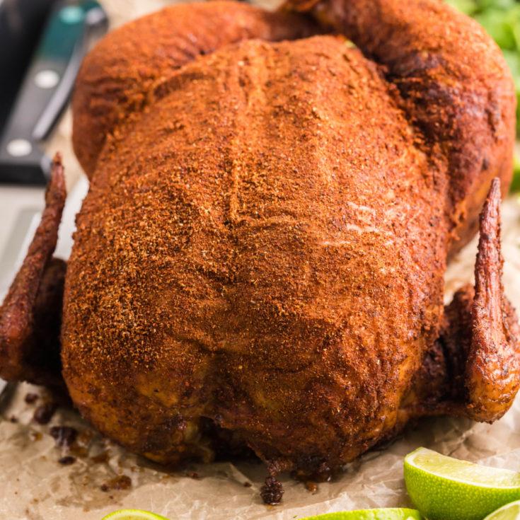 Southwest Smoked Whole Chicken